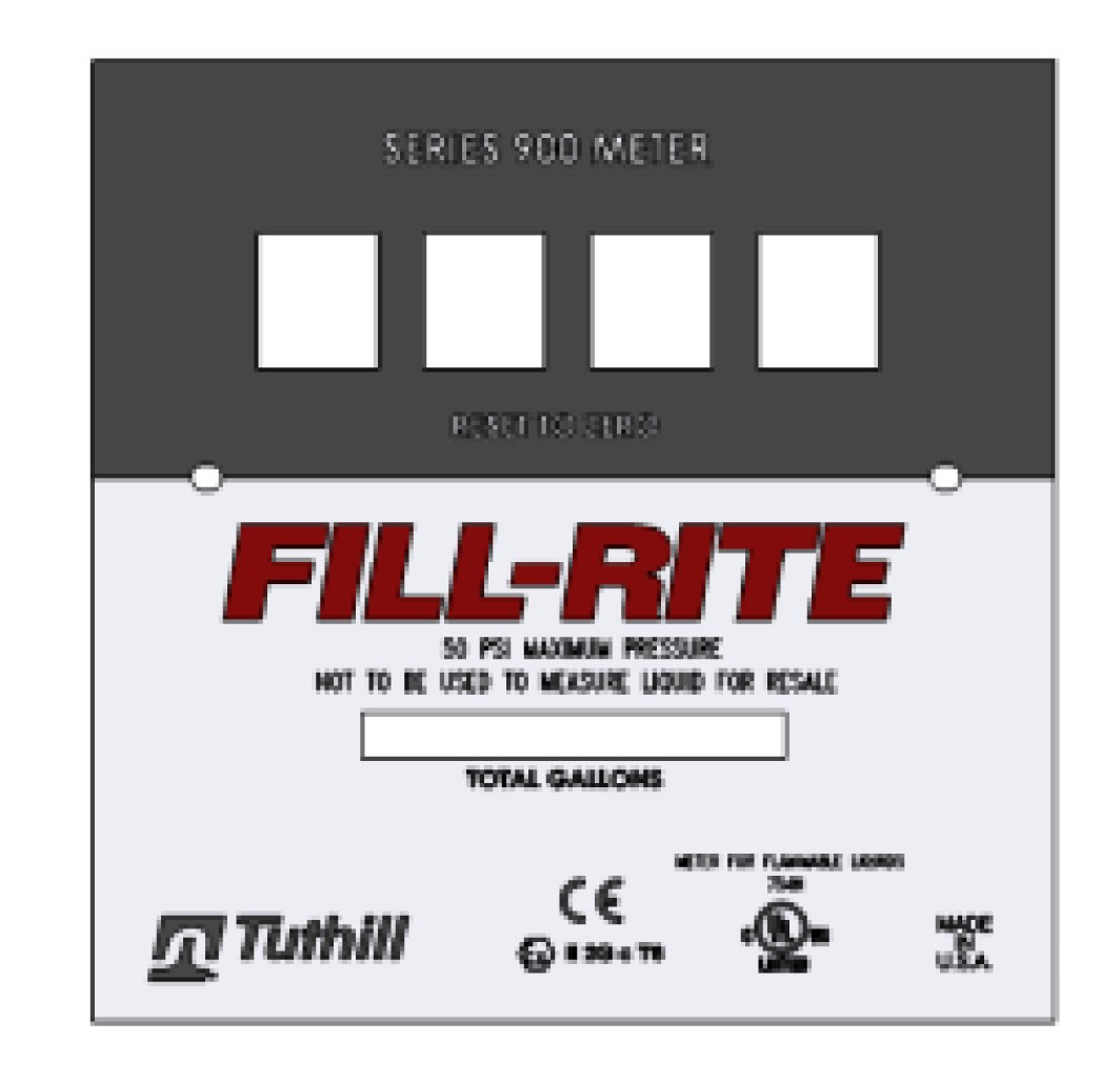 Fill-Rite KIT900FPP Bulk Gallon Faceplate Kit (5 pieces)