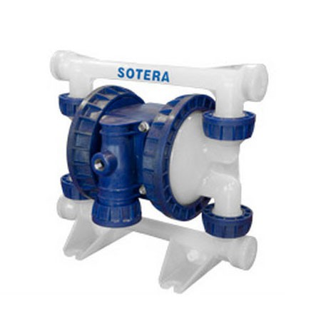"Fill-Rite SP100-05N-PP-SSS 1/2"" Polypropylene, Santoprene, NPT Air Operated Diaphragm Pump"