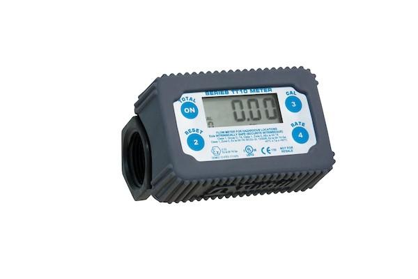 "Fill-Rite TT10PN 1"" NPT DEF Polymer In-Line Digital Turbine Meter (2 - 35 GPM)"