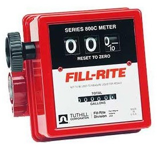 "Fill-Rite 807C - 3/4"" Mechanical Flow Meter (5-20 GPM)"