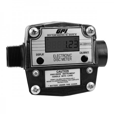 "GPI FM-300H-G8N - 1"" NPT Electronic Chemical Meter (2-20 GPM )"