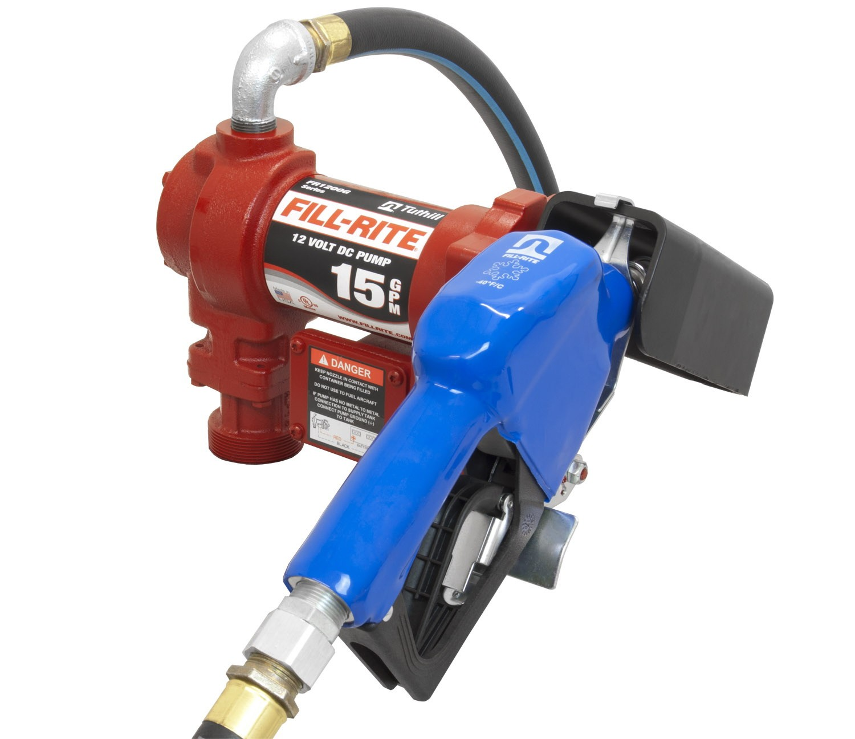 "Fill-Rite FR1210GARC 12 Volt DC Arctic Pump w/ Swivel w/ 3/4"" Automatic Nozzle (15 GPM)"