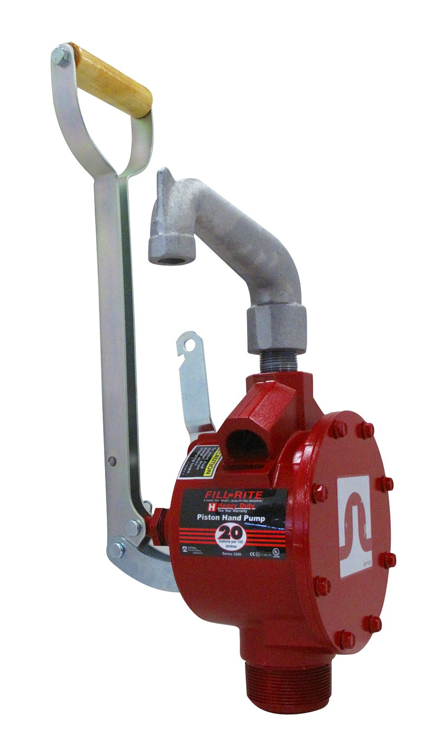 Fill-Rite Piston Hand Gas Pump with Steel Telescoping Tube & Pail Spout