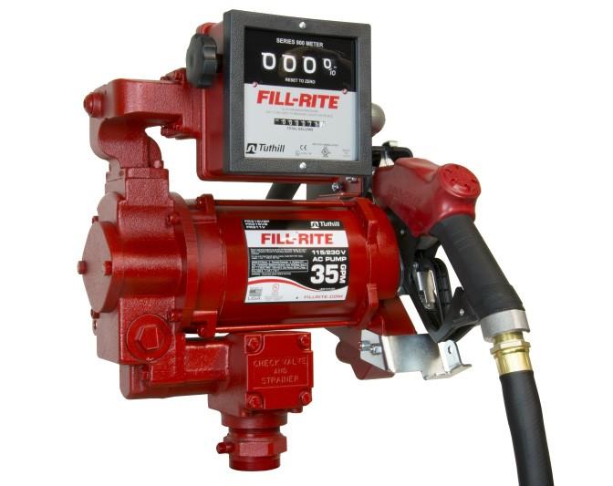 Fill-Rite FR311VLB 115/230V AC High Flow Pump w/ 901L Meter, Nozzle (113 LPM)
