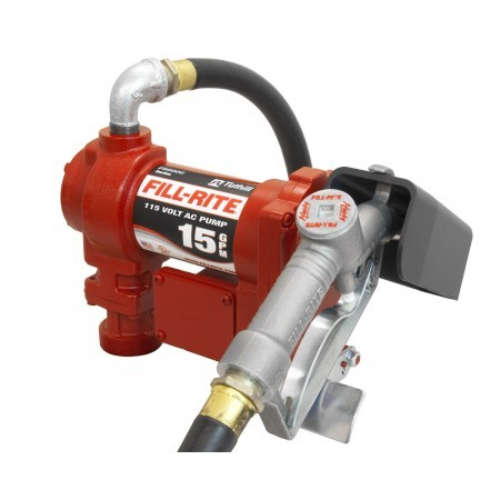 "Fill-Rite FR610G Heavy Duty Transfer Pump with 3/4"" Manual Nozzle (15GPM)"