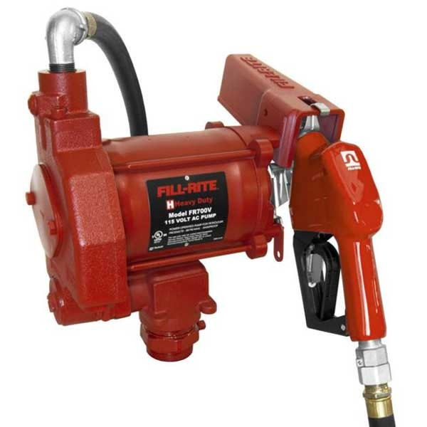 Fill-Rite FR700VA 115 V AC Pump with Automatic Nozzle (20 GPM)