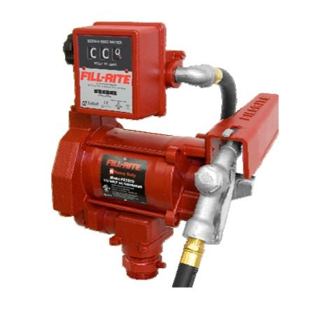 Fill-Rite FR701VLAC 115 Volt AC Transfer Pump w/ 807CL Meter & Automatic Nozzle & Hose (20 GPM)