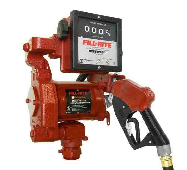"Fill-Rite FR711VA 115V AC High Flow Pump w/ 1"" Hi Flow Automatic Nozzle w/ 901 Meter (23 GPM)"