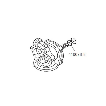 GPI 110078-8 Herbicide Motor Shaft Seal for P-120H & P-200H 12V Plastic Utility Pump