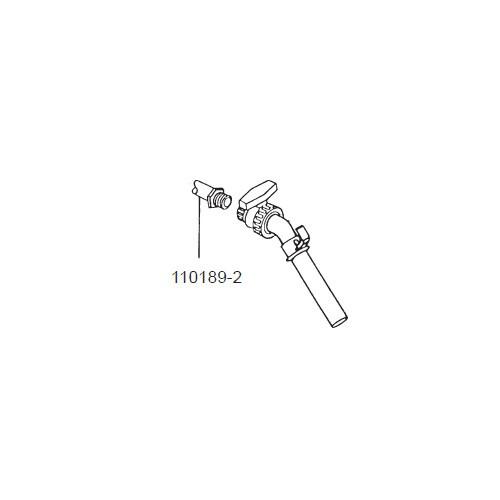 """GPI 110189-2 1"""" x 12' Herbicide EPDM Hose for P-120H & P-200H 12V Pump"""