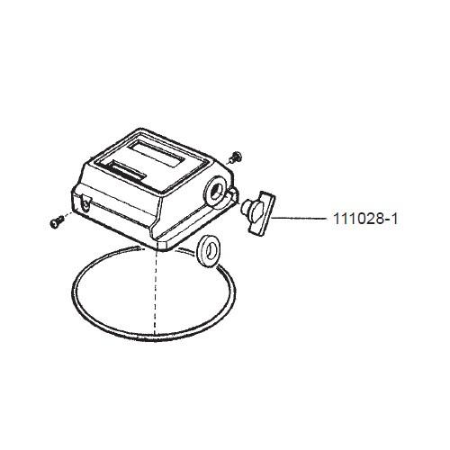GPI 111028-1 Black Reset Fuel Knob for FM-100 & FM-200 Mechanical Meters