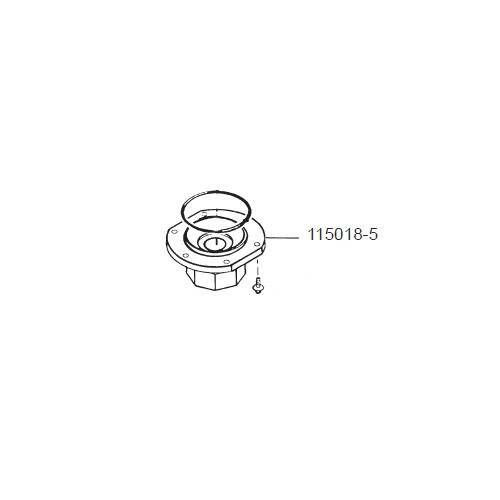 GPI 115018-5 Zinc Lower Cover Assembly for P-120H & P-200H 12V Plastic Utility Pump