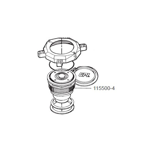 """GPI 115500-4 4"""" Chemical Bung Adapter Assembly for P-120H & P-200H 12V Plastic Utility Pump"""