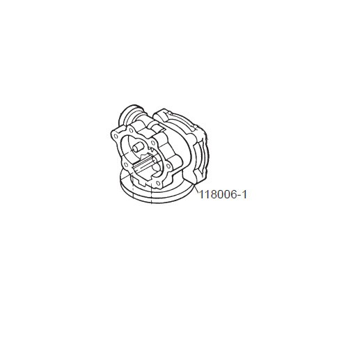 GPI 118006-1 Pump Housing for P-120H & P-200H 12V Plastic Utility Pump