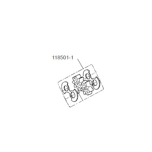 GPI 118501-1 Gear Kit for P-120H Plastic Utility Pump