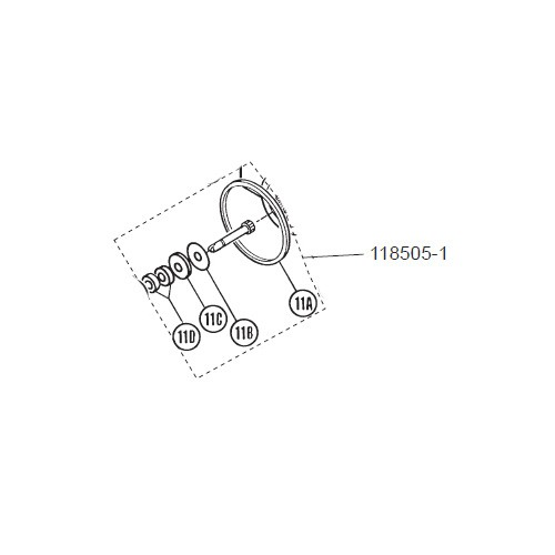 GPI 118505-1 Herbicide Drive Shaft Kit for P-120H & P-200H 12V Plastic Utility Pump