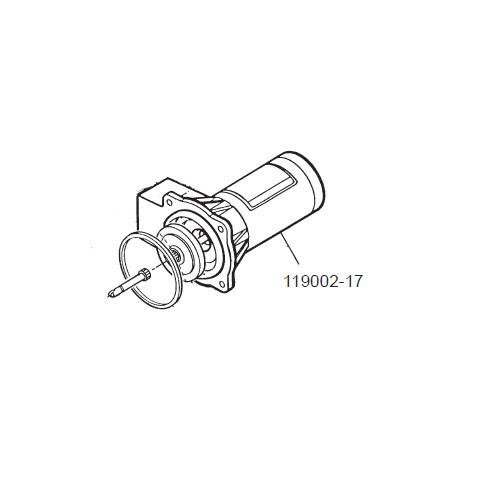 GPI 119002-17 12V DC Motor Assembly for P-120H Plastic Utility Pump
