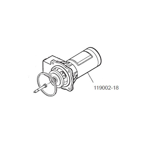 GPI 119002-18 12V DC Motor Assembly for P-200H 12V Plastic Utility Pump