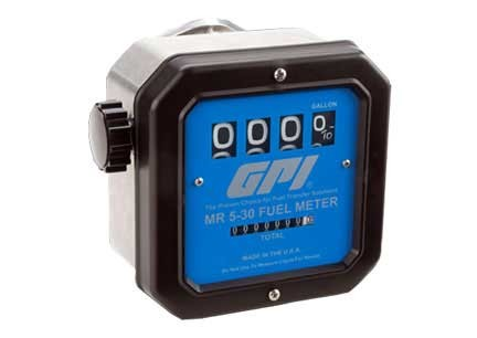 "GPI MR-5-30-N 1"" NPT Nickel Plated Mechanical Meter (5-30 GPM)"