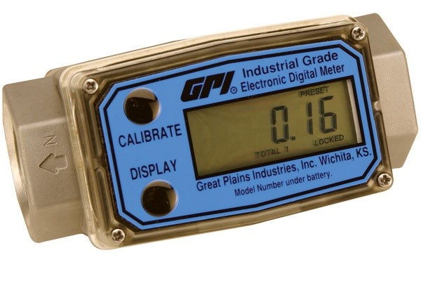 "GPI G2A20N09GMB 2"" Industrial Aluminum Flow Meter (20 - 200 GPM)"