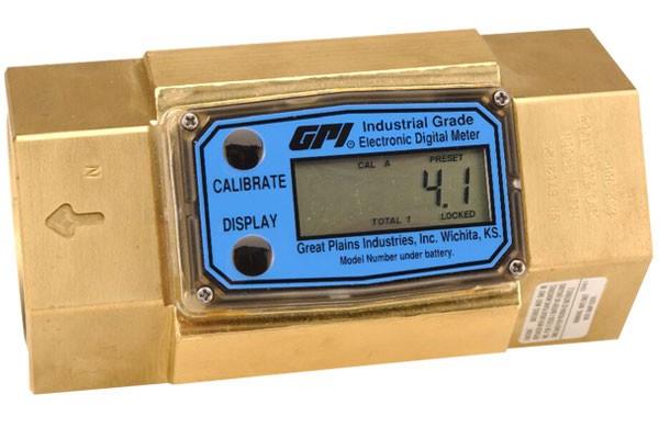 "GPI G2B15N09GMB 1-1/2"" Brass Turbine Flow Meter"