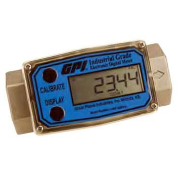 "GPI G2H05N09GMA 1/2"" NPT High Pressure Flow Meter (1 - 10 GPM)"