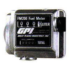 "GPI LM-200-Q8N - 1"" NPT mechanical oil meter (16-80 QPM)"