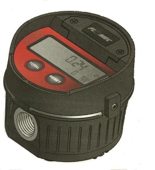 "GPI LM51DN - 1/2"" NPT Enhanced Electronic Lube Meter (8 GPM)"