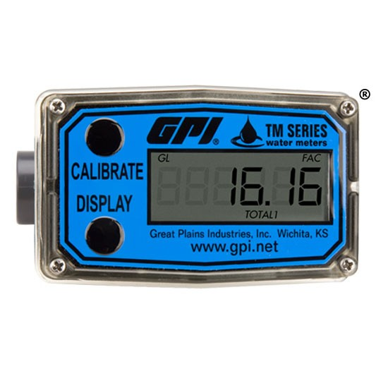 GPI TM075 - Turbine Digital Water Flow Meter (2-20 GPM)