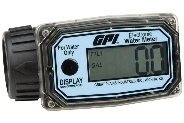 GPI 01N12LM Commercial Grade Water Meter (10 to 100 LPM)