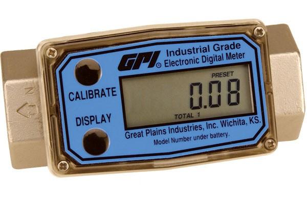 "GPI G2S15N09GMB 1-1/2"" NPT Turbine Flow Meter (10 - 100 GPM)"