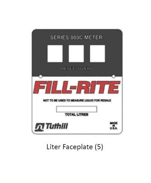 Fill-Rite KIT800LFPP Bulk Liter Faceplate Kit