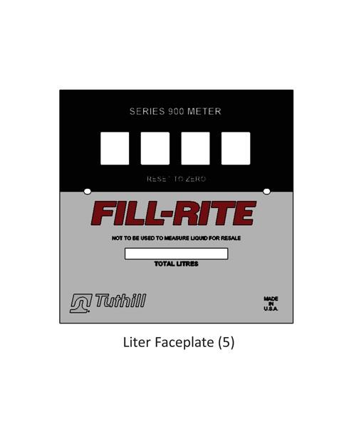 Fill-Rite KIT900LFPP Bulk Liter Faceplate Kit