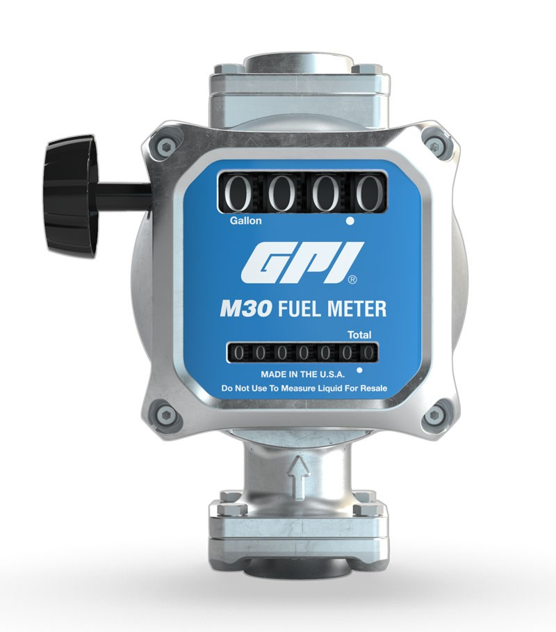 "GPI M30‐G8N 3/4"" NPT Nutating Disc Fuel Meter"