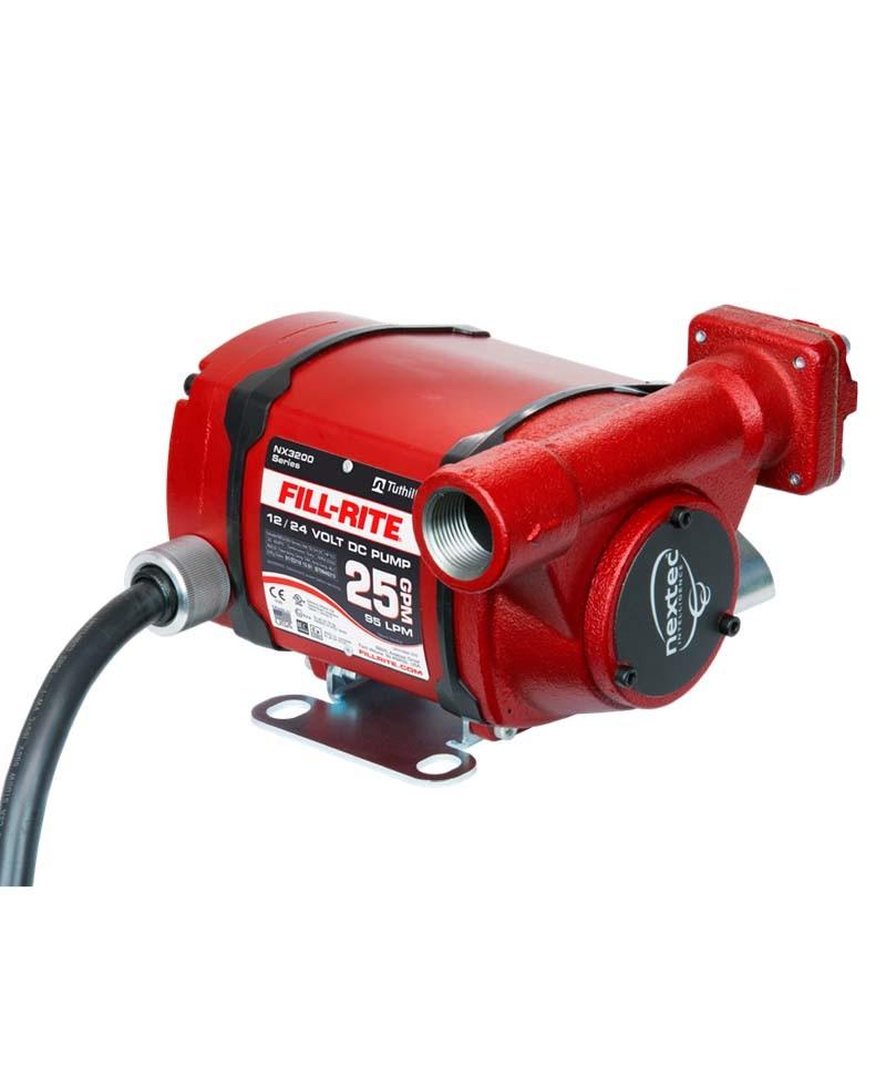 "Fill-Rite NX3205FE 12-24 Volt DC Ultra High Flow Pump w/1"" BSPT Foot Mount (25 GPM)"