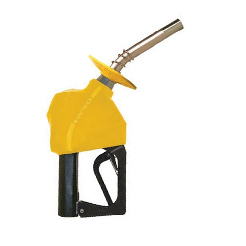 "OPW 11BP-0750 - 3/4"" Gold Automatic Gasoline Nozzle w/ No Pressure No Flow Device"