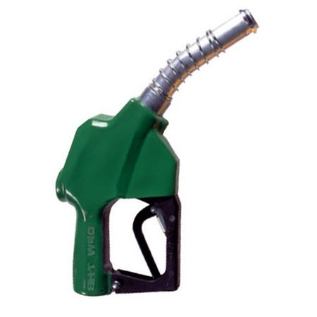 OPW 7HB-0100 Green Automatic Shut-Off Nozzle w/ Spout Ring (No Pressure, No Flow Device)