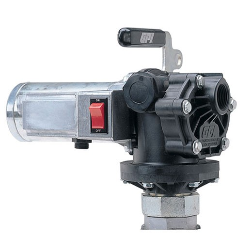 GPI P-200-BV 12 Volt Plastic Housing Oil Transfer Pump (8 GPM)