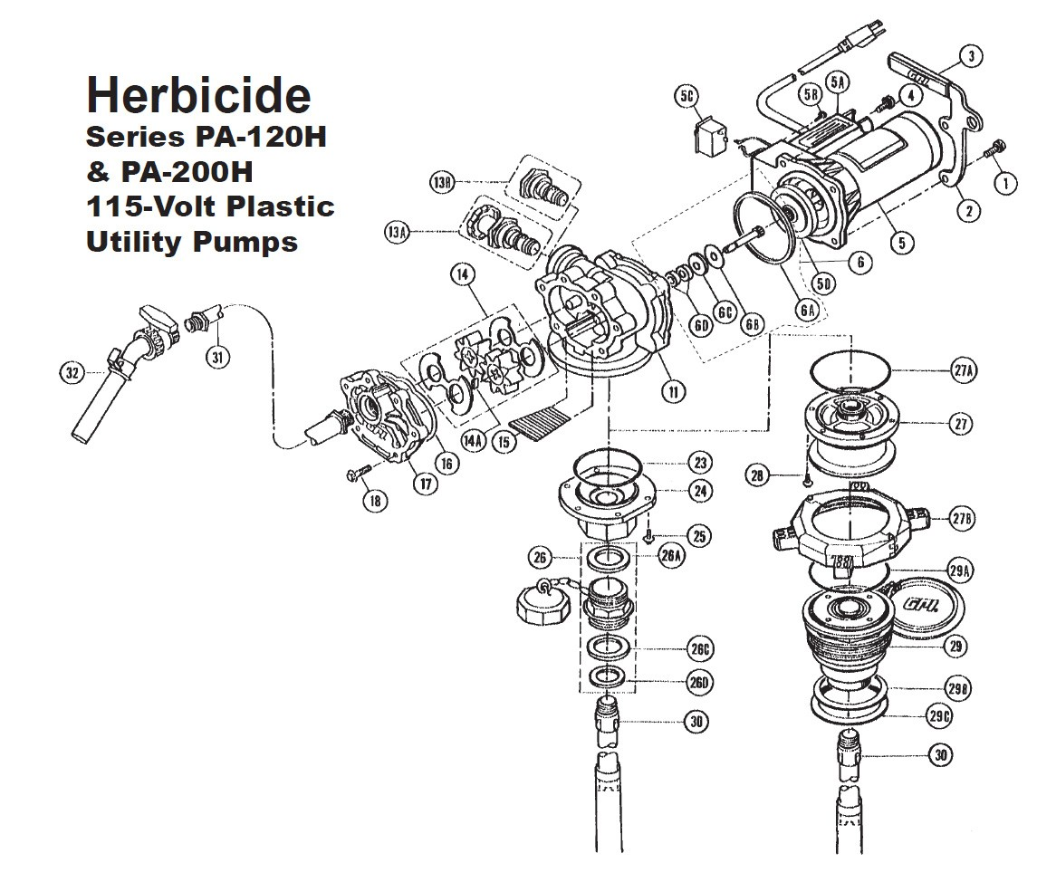 GPI 115520-1 Valve Kit for PA-120H & PA-200H 115V Plastic Utility Pump