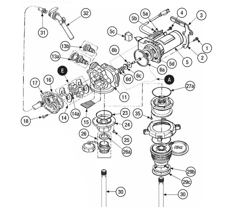 GPI 118506-1 Herbicide Seal Kit for P-120H & P-200H 12V Plastic Utility Pump