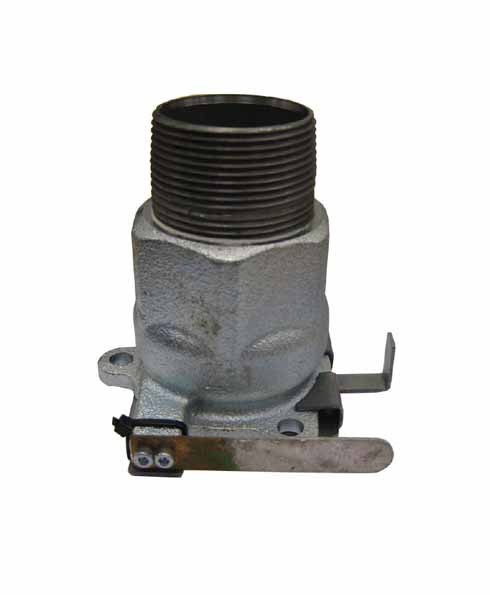 "Franklin Fueling 662510203 - 1.5"" BSPT Male Single Poppet Adapter for 662 Series Emergency Shear Valve"