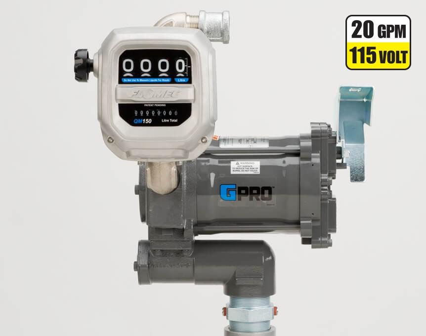 GPI PRO20-115PO/QM240G8N 115 Volt GPRO High-Flow Fuel Transfer Pump w/ Meter(20 GPM)