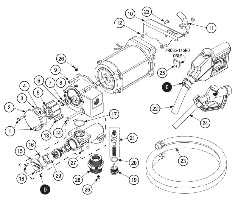 GPI 121010-03 Shaft Key Kit