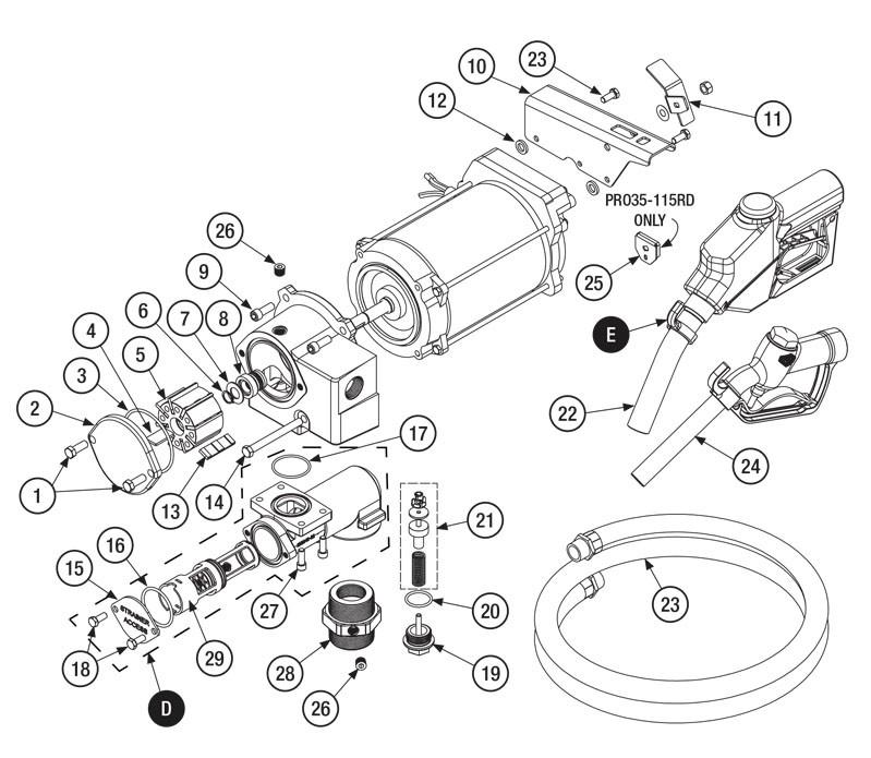 GPI 133505-04 Poppet Assembly Kit