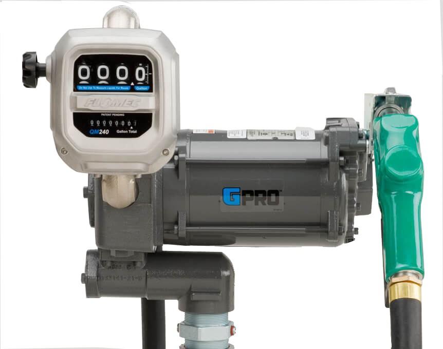 GPI PRO35-115AD/QM150L8N 115 Volt GPRO High-Flow Fuel Transfer Pump w/ Meter(35 GPM)
