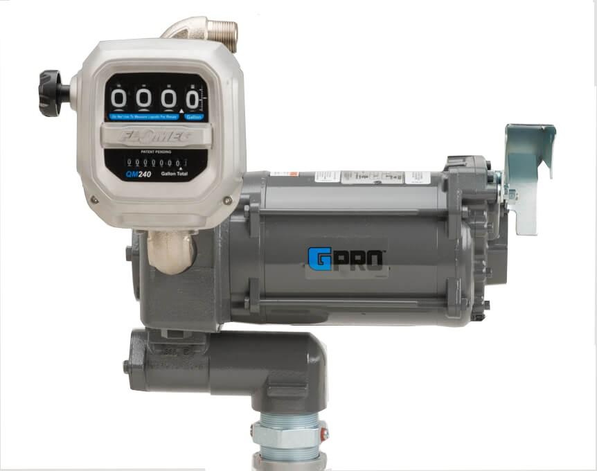 GPI PRO35-115PO/QM240G8N 115 Volt GPRO High-Flow Fuel Transfer Pump w/ Meter(35 GPM)