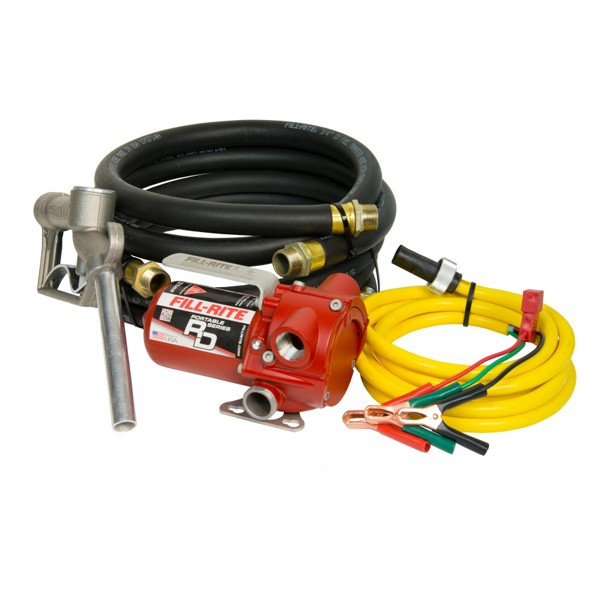 Fill-Rite RD812NH 12V DC Portable Fuel Transfer Pump w/ Nozzle, Hose (8 GPM)