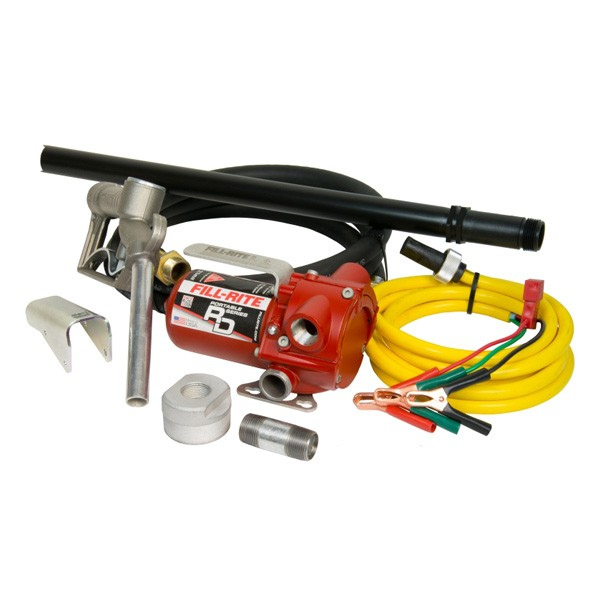 Fill-Rite RD812NP 12V DC Portable Bung Mounted Fuel Transfer Pump w/ Nozzle & Hose (8 GPM)
