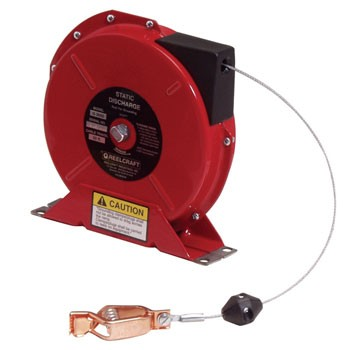 Reelcraft G3050N Static Discharge Grounding Reel (Nylon Covered Cable)