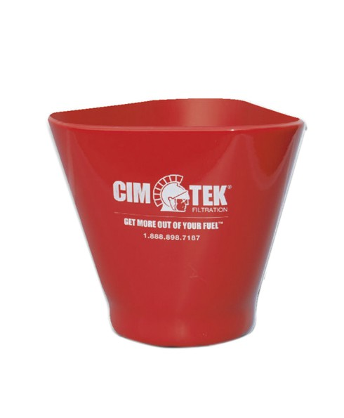 Cim-Tek 60072 EZ Grip Fuel Filter Cup for 5'' Diameter Filters